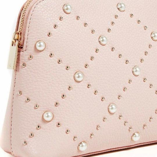 Kate Spade NWT Kate Spade Hayes Street Pearl Small Briley Cosmetic Bag Warm Vellum Pink $128 Image 3