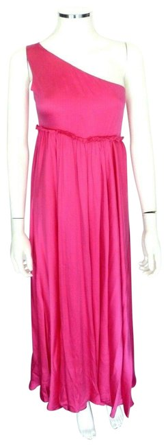 Item - Pink Silk Maxi Grecian Style It 44 Empire Waist Long Formal Dress Size 8 (M)