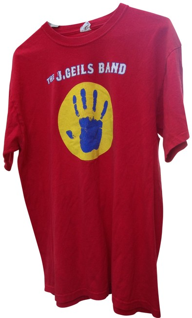Item - Red The J Geils Band Large Tee Shirt Size 14 (L)
