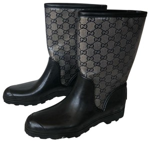 Gucci black and silver Boots