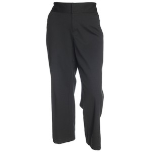 Ellen Tracy 3x Short Plus Size Slacks Trousers Straight Pants Deep Black