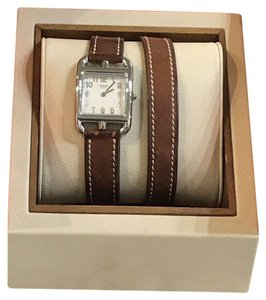 Hermès Cape Cod Stainless Steel/Leather Double Wrap Watch CC1.210