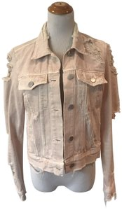 J Brand Distressed Blush Womens Jean Jacket