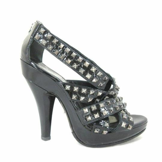 Burberry Black Studded Patent Leather