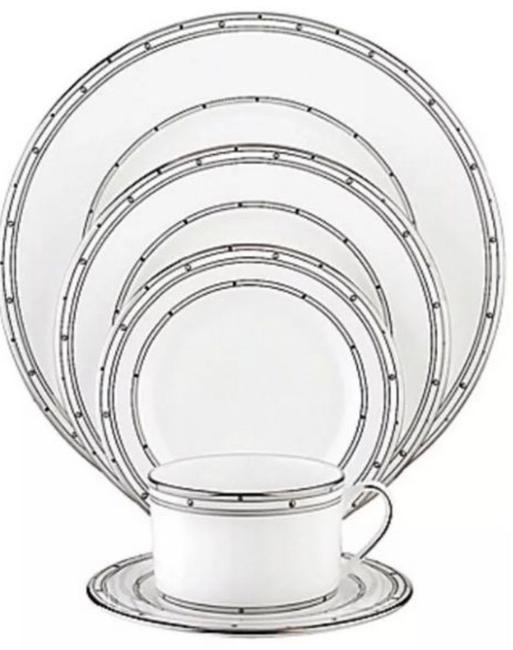 Item - White Platinum 4 5 Piece Place Settings Fine China