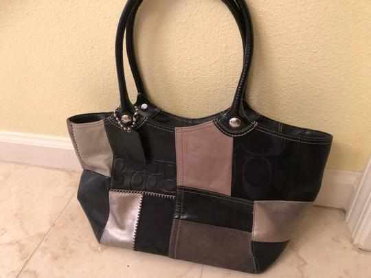 Coach Tote in black & grey Image 1
