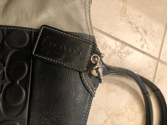 Coach Tote in black & grey Image 2