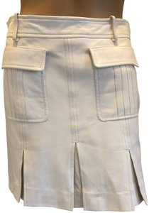 Versace Gucci Skirt Leather Gucci Skirt Straight Pants White