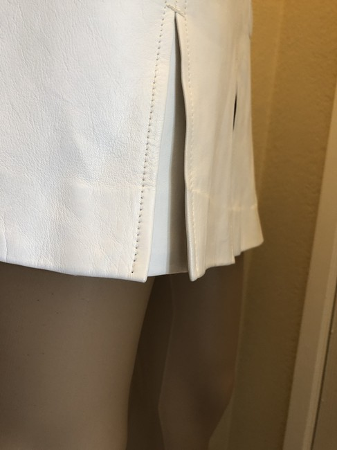 Versace Gucci Skirt Leather Gucci Skirt Straight Pants White Image 2