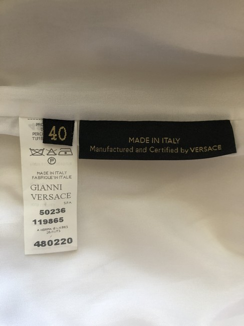 Versace Gucci Skirt Leather Gucci Skirt Straight Pants White Image 3