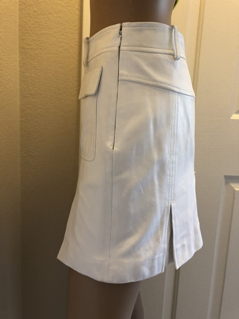 Versace Gucci Skirt Leather Gucci Skirt Straight Pants White Image 5