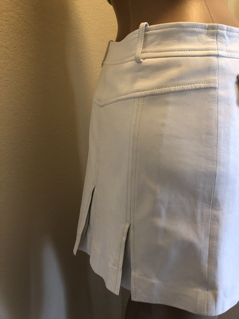 Versace Gucci Skirt Leather Gucci Skirt Straight Pants White Image 6