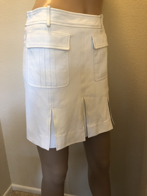 Versace Gucci Skirt Leather Gucci Skirt Straight Pants White Image 7