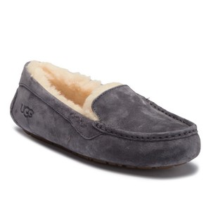 UGG Australia Ansley Water-resistant Suede Slipper Winter GRAY Flats