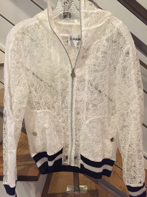 Chanel White and navy Jacket Image 1
