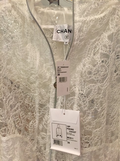 Chanel White and navy Jacket Image 3