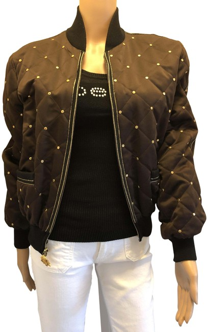 Item - Brown Griffith & Gray Jacket with Gold Detailing Activewear Size 6 (S)