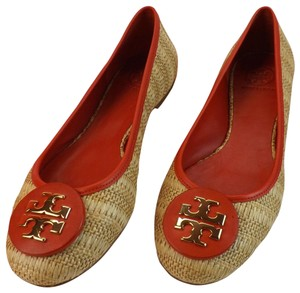 Tory Burch Beige Yellow Red Flats
