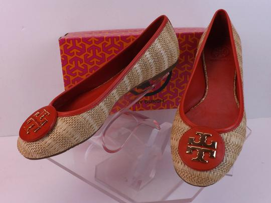 Tory Burch Beige Yellow Red Flats Image 10