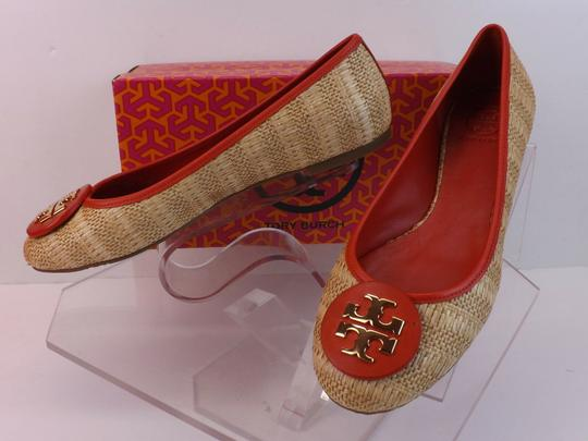 Tory Burch Beige Yellow Red Flats Image 11