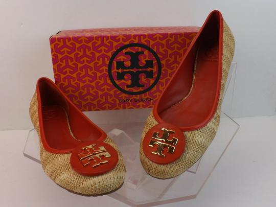 Tory Burch Beige Yellow Red Flats Image 2