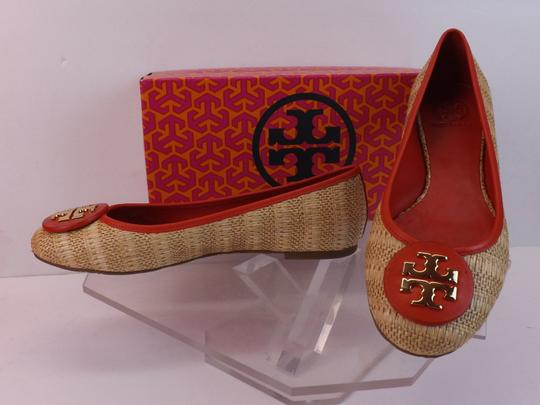 Tory Burch Beige Yellow Red Flats Image 6