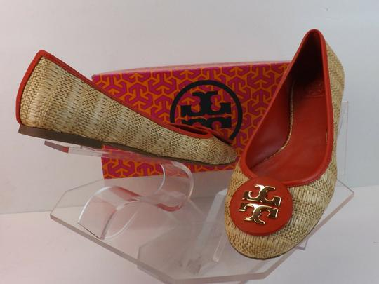 Tory Burch Beige Yellow Red Flats Image 7