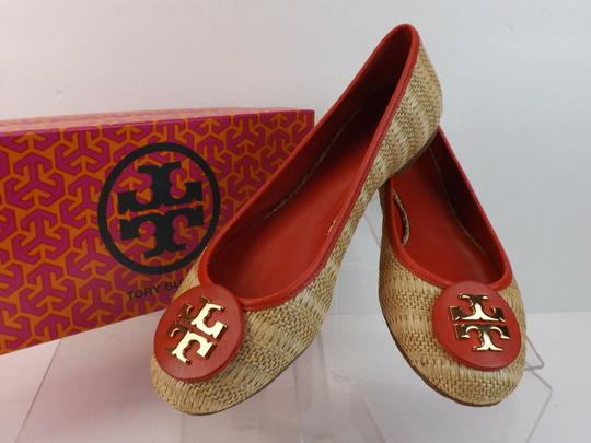 Tory Burch Beige Yellow Red Flats Image 8