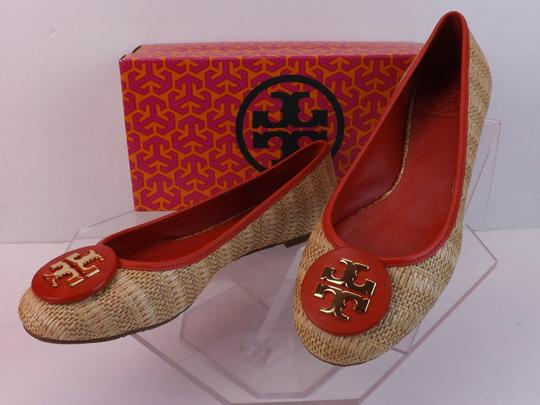 Tory Burch Beige Yellow Red Flats Image 9
