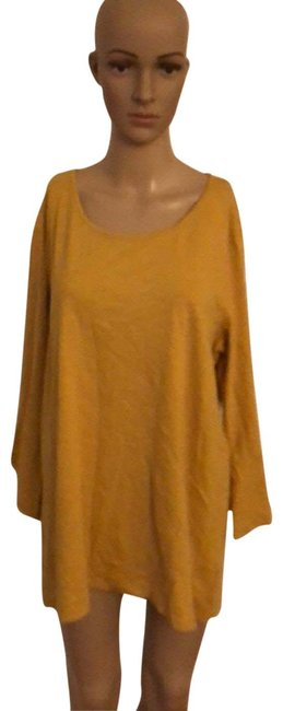 Preload https://img-static.tradesy.com/item/25844621/style-and-co-mustard-long-bell-sleeve-shirt-blouse-size-14-l-0-1-650-650.jpg
