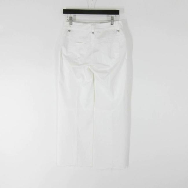 Unravel Leather Lace Up Flare Pants White Image 2
