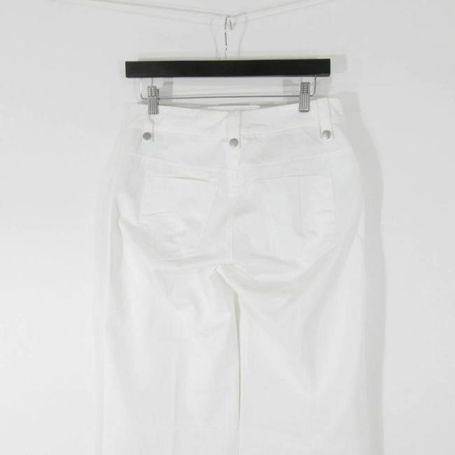 Unravel Leather Lace Up Flare Pants White Image 3