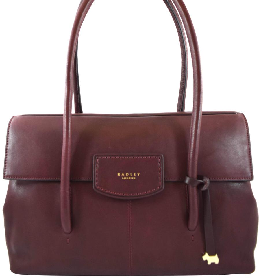 2b0ba9a79de5 RADLEY LONDON Burnham Beeches Large Dark Red Leather Tote 63% off retail