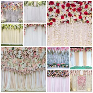 Polyester 7 X Flower Backdrops Reception Decoration