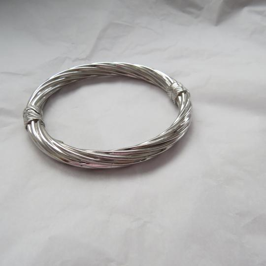 Ross-Simons Italian Sterling Silver Twisted Oval Bangle Image 1
