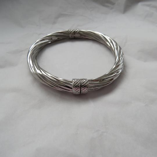 Ross-Simons Italian Sterling Silver Twisted Oval Bangle Image 2