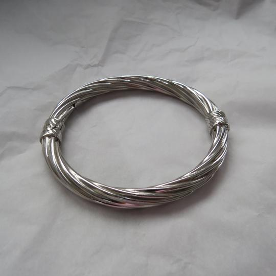 Ross-Simons Italian Sterling Silver Twisted Oval Bangle Image 3