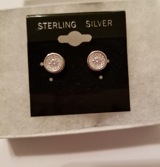 Other WHITE SAPPHIRE HALO STUDS EARRINGS Image 6