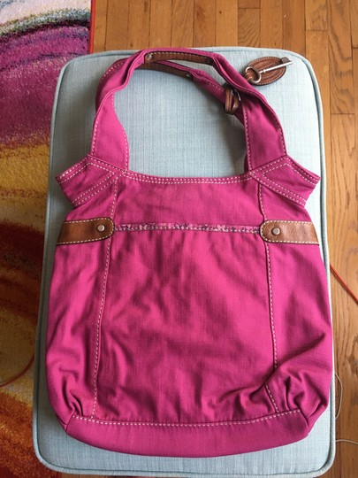 Fossil Tote Canvas Tote Cross Body Bag Image 1