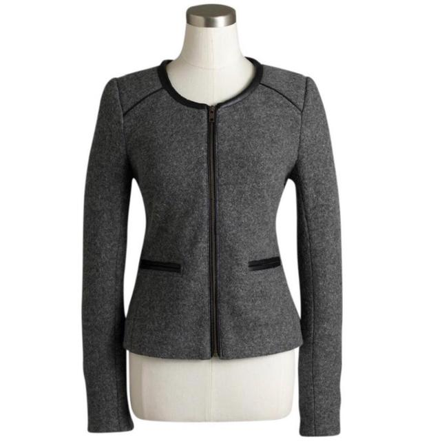 J.Crew Grey Nwt. Factory Wool Jacket Size 00 (XXS) J.Crew Grey Nwt. Factory Wool Jacket Size 00 (XXS) Image 1