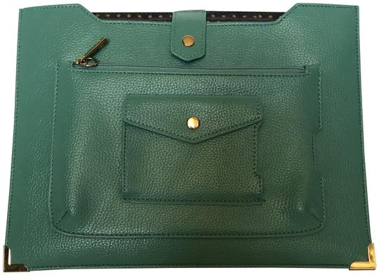 Preload https://img-static.tradesy.com/item/25845071/pebble-teal-faux-leather-clutch-0-1-540-540.jpg