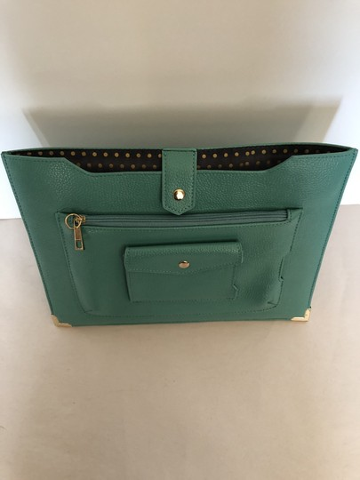 Unknown Workclutch Workbag Leatherevening Teal Clutch Image 1