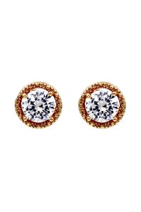 Ocean Fashion Round gold crystal earrings