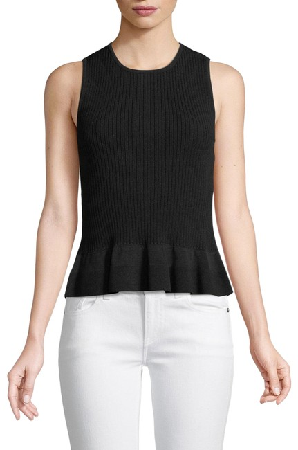 Preload https://img-static.tradesy.com/item/25845087/diane-von-furstenberg-black-cable-knit-peplum-blouse-size-4-s-0-1-650-650.jpg