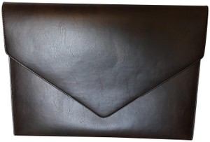 Tempo Italy Work Leather Work brown Clutch