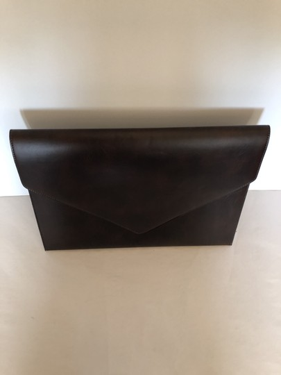 Tempo Italy Work Leather Work brown Clutch Image 7
