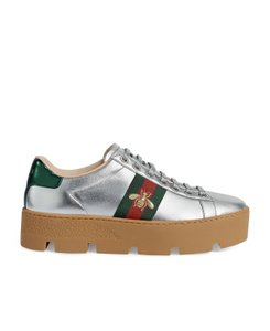 Gucci Gg Espadrille Silver Athletic