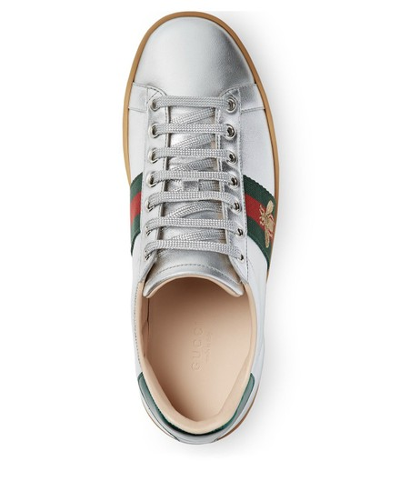 Gucci Gg Espadrille Silver Athletic Image 1