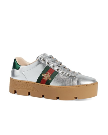 Gucci Gg Espadrille Silver Athletic Image 2