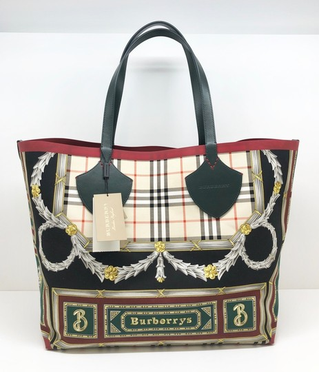 Burberry Check Giant Large Tote in Leather Image 1